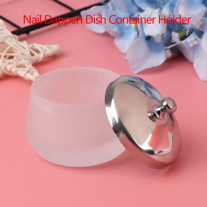 1 adet akrilik toz sıvı kristal cam akrilik tırnak fincan Dappen bulaşık kapaklı kase bardak tutucu ekipmanları tırnak araçları