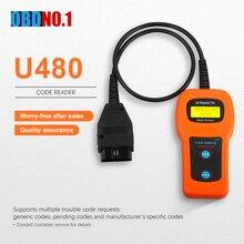 U480 OBD2 автомобильный диагностический сканер Инструменты поддерживает несколько кодов неисправностей U480 CAN BUS& Engine code Reader