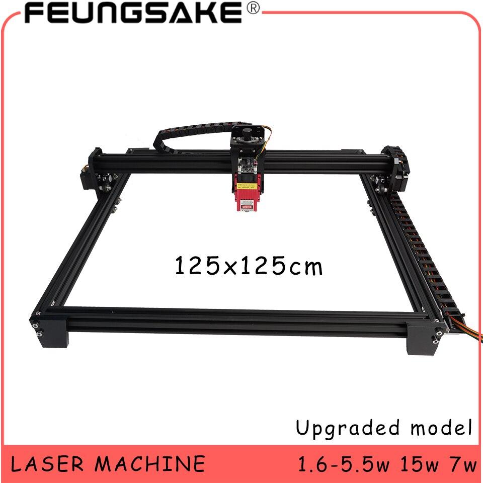 Cnc 125x125cm Laser Gravur Maschine großen bereich 15w laser maschine PMW TTL steuerung, 7w laser carving maschine 5500mw Laser stecher