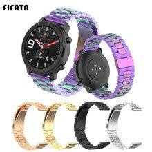 FIFATA Metall Band Strap Für Huami Amazfit GTR 47/42mm Armband Uhrenarmbänder Für Xiaomi GTS BIP Tempo Stratos 3/2/2 S/1 Handgelenk Gurt
