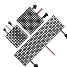 WS2812B Led Panel Light Digital Flexible IndividuaIly Addressable WS2812 IC 8x8 16x16 8x32 Module Matrix Screen DC5V