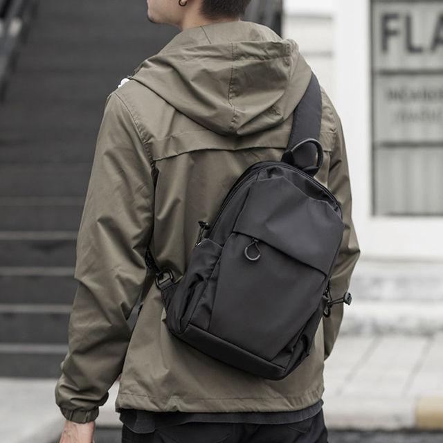 Jack Kevin Fashion Men Anti Theft Chest Bag School Summer Short Trip Messengers Bag Waterproof Nylon Single Shoulder Strap Pack