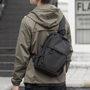 Image 1 - Jack Kevin sac messager Anti vol pour hommes, sacoche école dété court voyage, Pack à une épaule imperméable en Nylon