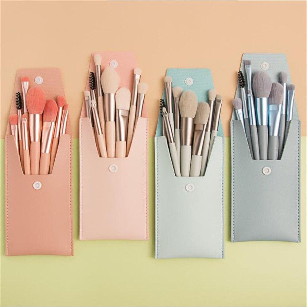8PCS Luxury Make Up Brush Set Foundation Brushes Powder Blush Eyeshadow Concealer Eye Face Makeup Brushes Cosmetics Beauty Tools