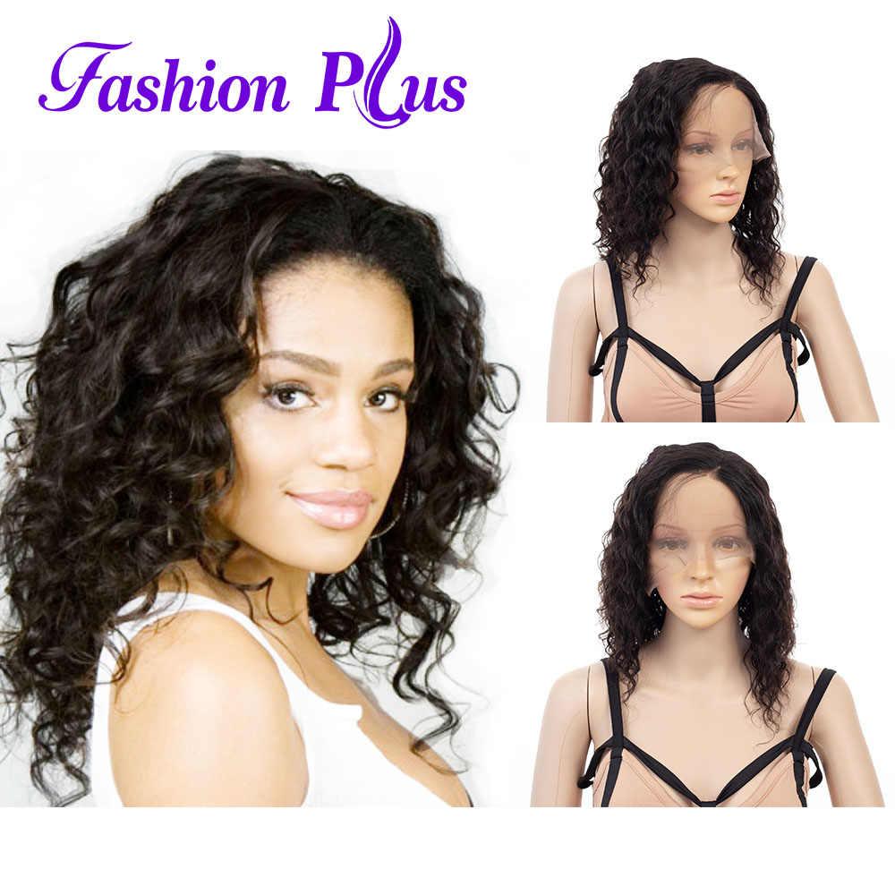 Полностью кружевные человеческие волосы парики для женщин короткие человеческие волосы натуральный цвет свободная волна бразильские Remy человеческие волосы парики 150% Плотность