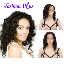 Full Lace Human Hair Wigs For Women Short Human Hair Natural Color Loose Wave Brazilian Remy Human Hair Wigs 150% Density