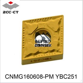 ZCC Original CNMG160608-PM YBC251 CNMG 160608 CNMG1606 Carbide Inserts 10pcs CNC Turning Tool Lathe Tools Cutter