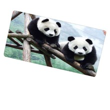 Lovely Panda Free Shipping Locking Edge Large Gaming Mouse Pad Mats for Computer Laptop
