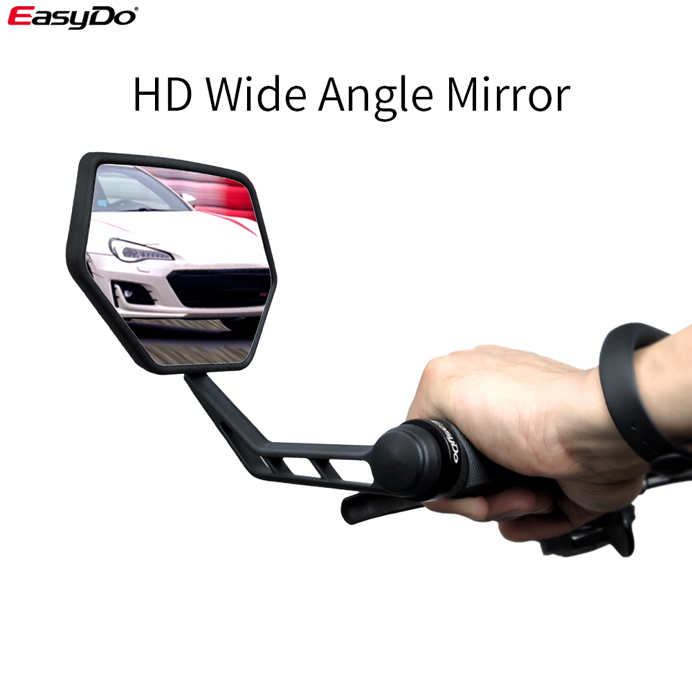 1Pair Bicycle Rear View Mirror Bike Handlebar Rear View Wide Range Back Sight US