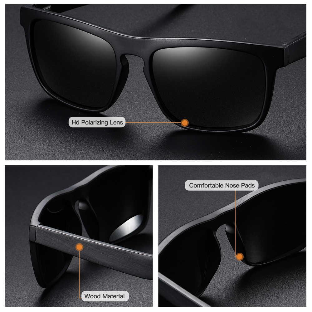 GM Piazza Vintage Cornice Nera Occhiali Da Sole Donne Degli Uomini di Legno di Bambù Occhiali Da Sole Retro Occhiali Da Sole Polarizzati oculos di Marca