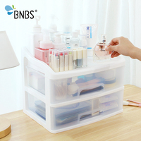 BNBS Makeup Drawer Organizer For Cosmetics Storage Box Container Stationery Organizer Plastic Multi layer Boxes For Storage