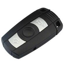 Mayitr Car Styling 3 Button Remote Key Case Shell+Key Blank for BMW 1 3 5 6 7 Series E90 E91 E93