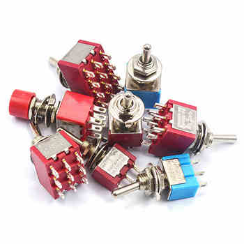 5pcs  Toggle Switch  Mini Switches 2 Position 3 Position Latching Switch MTS-102/103/202/203 ON-ON SPDT ON-OFF -ON SPDT DPDT 50 pcs off on mts 102 3 pin 2 position mini latching toggle switch spdt ac 125v 6a 250v 3a