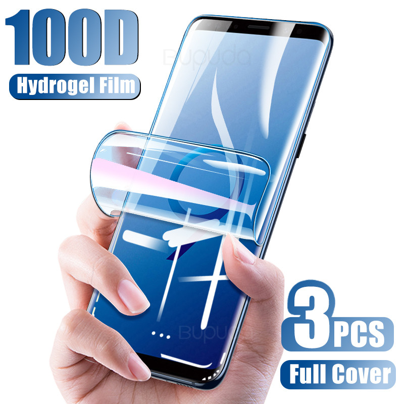2Pcs Screen Protector For Samsung S9 S8 S10 Plus S10E S7 Edge Hydrogel Film For Galaxy Note 10 Plus 9 8 Full Soft Film Not Glass