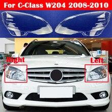 Für Mercedes-Benz C-Klasse W204 2008-2010 C180 C200 C260 C280 C300 200k 180k auto Front Scheinwerfer Abdeckung Glas Objektiv Caps Shell