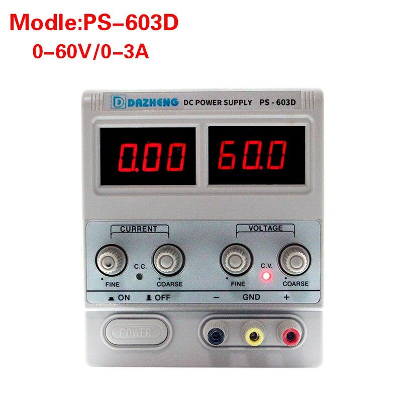 Haute précision professionnel linéaire commutation réglable alimentation 60V 3A laboratoire alimentation banc source numérique