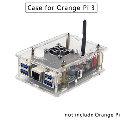 Akrylowa skrzynka dla Orange Pi 3 przezroczysta powłoka Box/wentylator kompatybilny dla Orange Pi 3