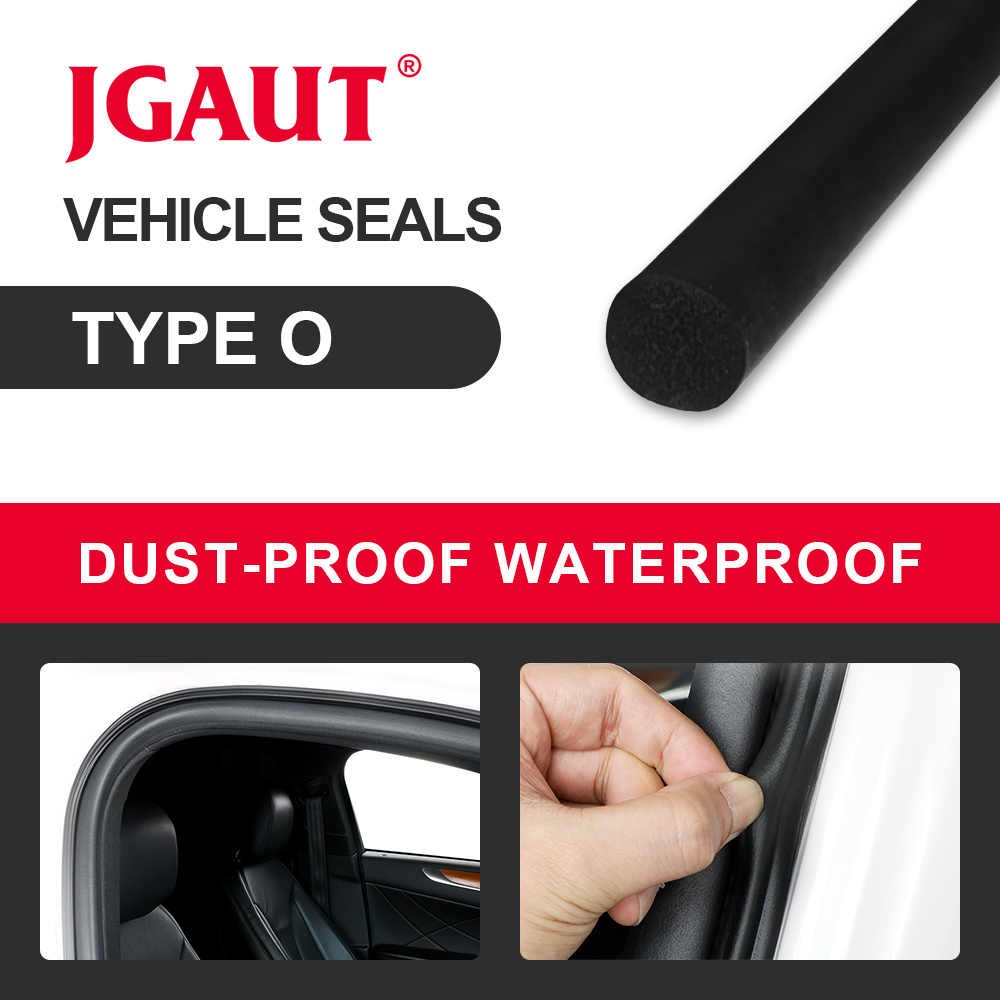 JGAUT O Shaped Filler Strip Car Door Weatherstrip Rubber Edge Seal Strip Black Car Door Tailgate Pillar Air Sealed Strip