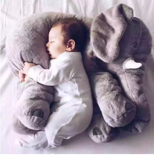 40cm/60cm Elephant Height Large Plush Doll Toy Kids Sleeping Back Cushion Cute Stuffed Pillow Baby Accompany Doll Xmas Gi