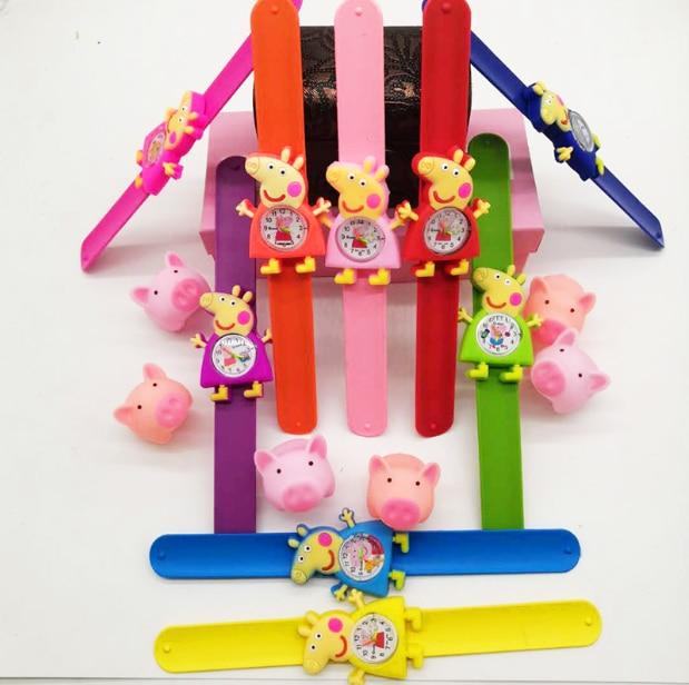 3D Cartoon Watch Peppa Pig Children Clock Baby Kid Quartz Waterproof Student Wrist Watches For Girls Boys Gifts