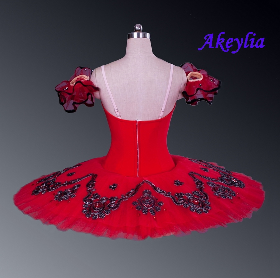 Image 3 - Professional Tutu Red Don Quxote Burgundy Girls Nutracker Pancake Tutu Ballet stage Costume For Dancers Competition EsmeraldaBallet   -
