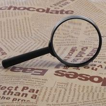 Lupa 60mm à mão 5x lupa lupa lente de vidro de leitura acabamento requintado para inspecionar mapas de verificação de jóias