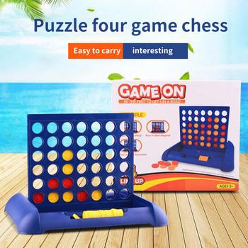 Zabawka edukacyjna gra w szachy nietoksyczna trwała cztery czteroosobowa gra w szachy pionowa niebieska pionowa deska do łączenia w warcaby tanie i dobre opinie Other 2 lat Connect Four Chess Toy Parent-Child Board Game Toys Connect Four Chess Toy non-toxic
