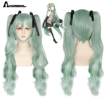 Miku Cosplay Wig Ponytails ANOGOL Vocaloid Synthetic-Hair-Clip Heat-Resistant Natural-Wave