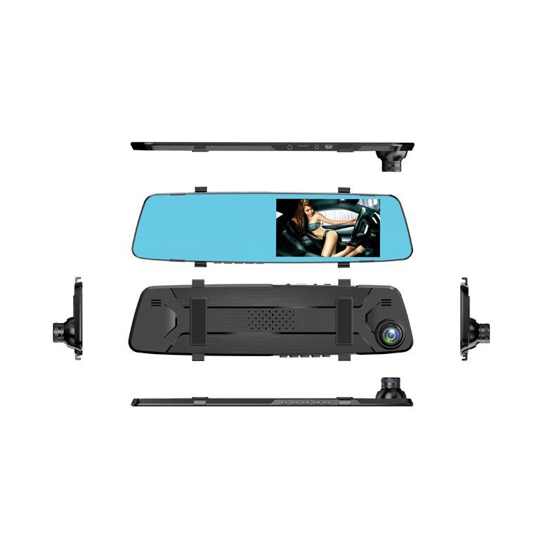 Dash Cam Mirror Driving Recorder 4.39 inch HD Starlight Night Vision Double Lens Reversing Image Car Video Camera Car Dvrs 6#