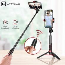 Cafele Складная Bluetooth Беспроводная селфи палка ручной 3 осевой карданный держатель камеры стабилизатор для телефона с пультом дистанционного управления