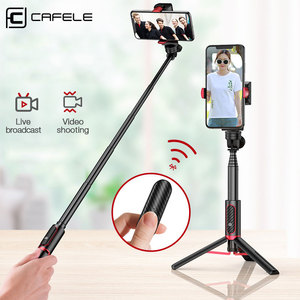 Image 1 - Cafele Foldable Bluetooth Wireless Selfie Stick Handheld 3 Axis Gimbal Camera Holder Stabilizer For Phone With Remote Control