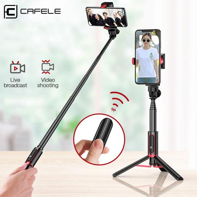 Cafeleบลูทูธไร้สายSelfie Stickมือถือ3แกนGimbalผู้ถือกล้องStabilizerสำหรับโทรศัพท์รีโมทคอนโทรล