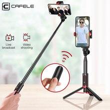 Cafele pliable Bluetooth sans fil Selfie bâton tenu dans la main 3 axes cardan support de caméra stabilisateur pour téléphone avec télécommande