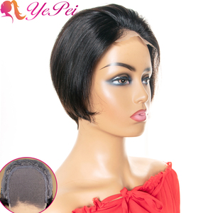 Pixie Cut Wig 4x4 Bob Lace Closure Wig Brazilian Straight Human Hair Wigs 130% Density Remy Short Human Hair Wigs Yepei Hair