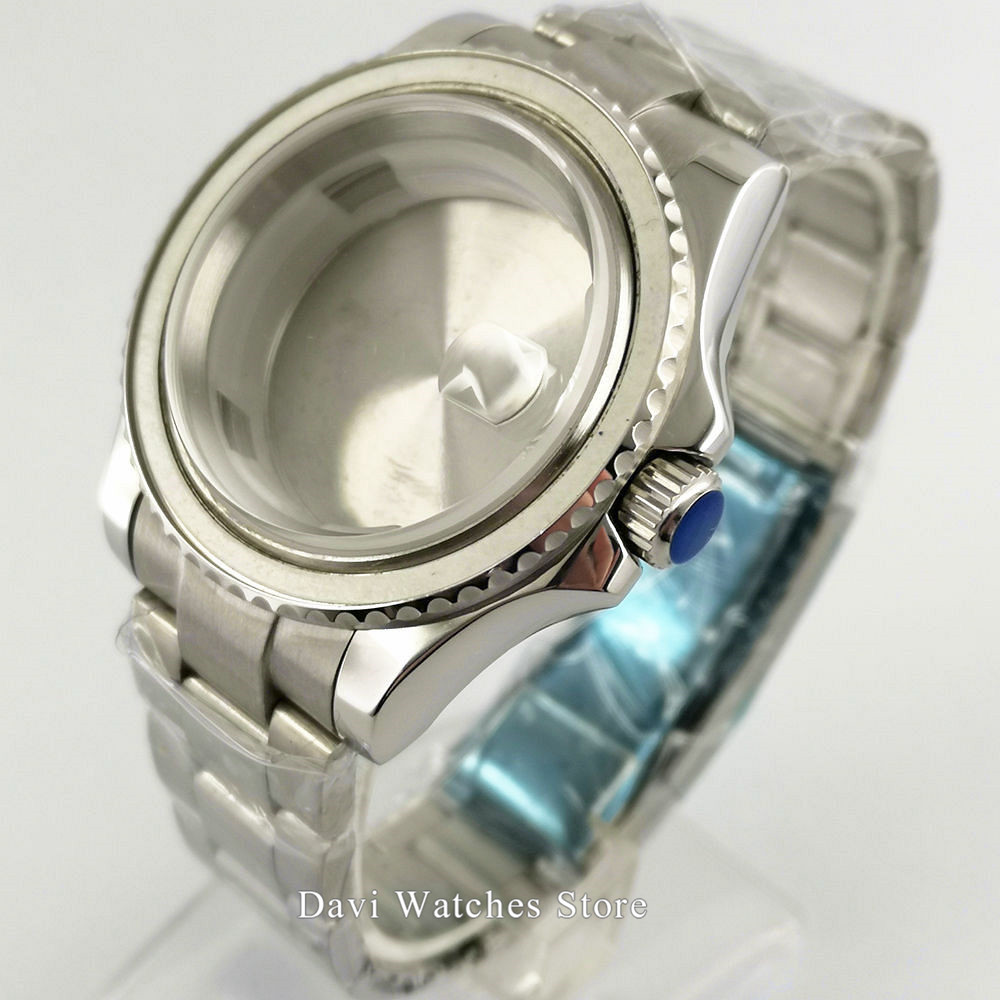 40mm Watch Case Bidirectional rotation bezel Kit DG2813/3804, ETA 2836,Miyota 8215 821A