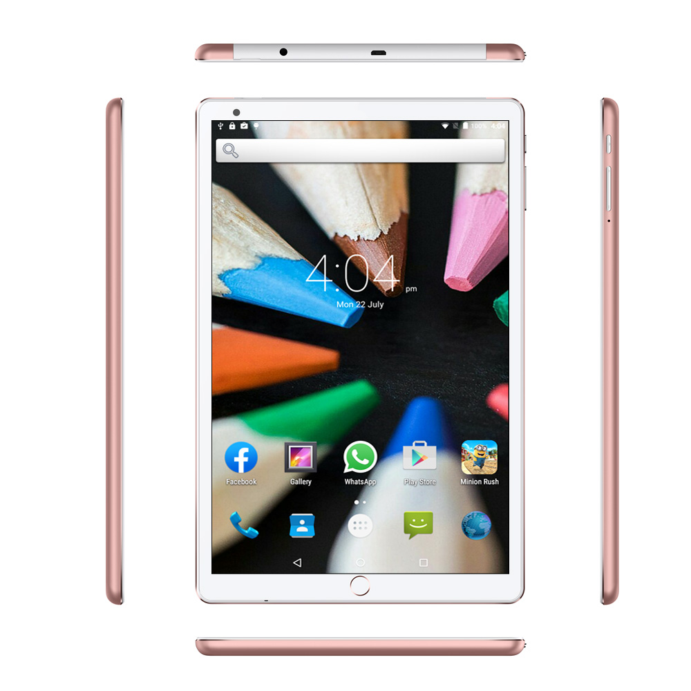 10.1 Inch Tablet PC 3G Phone Call 4GB+64GB Android 7.0 Octa Core 1.5GHz Dual SIM Wi-Fi  Bluetooth Support GPS Tablet PC (Red)