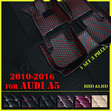 Auto Vloermatten Voor Audi A5 Sedan (Vier Deuren) 2010 2011 2012 2013 2014 2015 2016 Custom Auto Voet Pads Auto Tapijt Cover