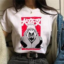 T camisa feminina feudal demônio inuyasha harajuku anime japonês t camisa oversized verão manga curta camiseta feminina roupas