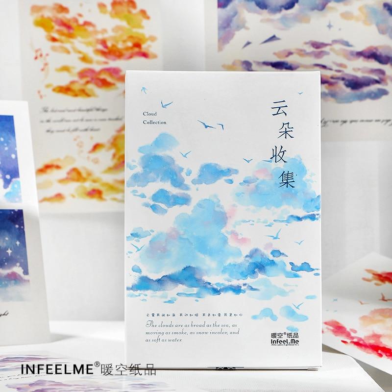 30 Pcs/Set Creative Cloud Collection Postcard Beautiful Clouds Greeting Cards Message Card DIY Journal Decoration