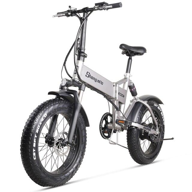Sheng milo 500 Вт Электрический толстый велосипед пляжный велосипед круизер Электрический велосипед 48v12.8ah литиевая батарея электрический горный...