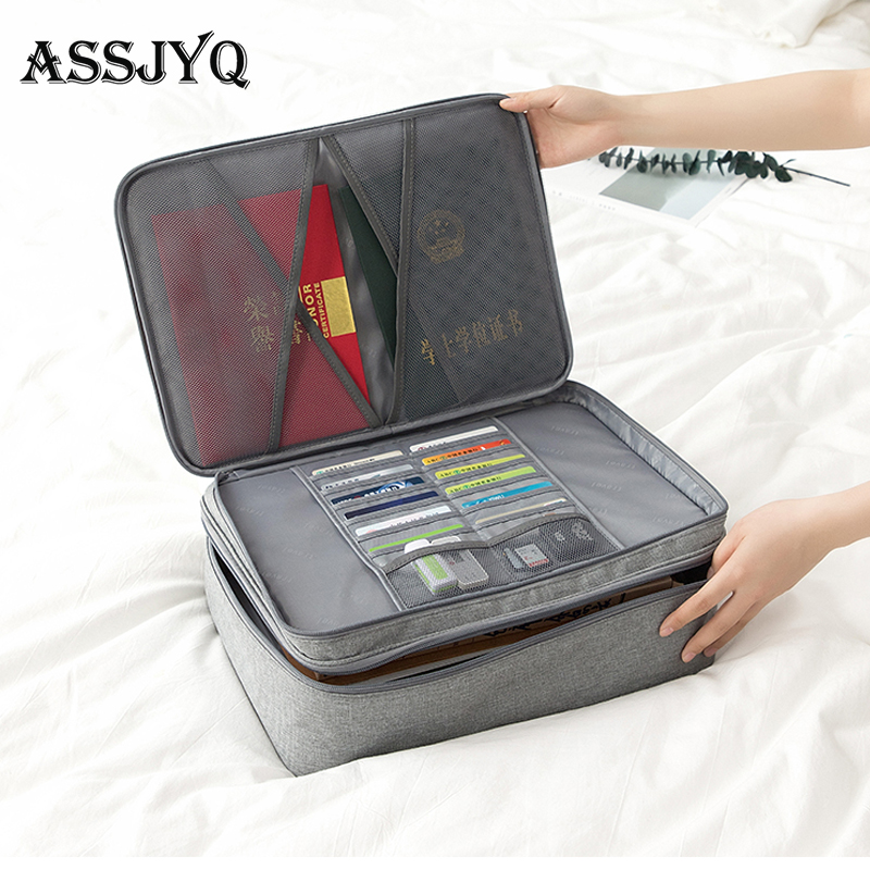 Men's Waterproof Travel Passport Box Document Organizer Wallet Passport Storage Box Covers For Passports Holder Storage Box