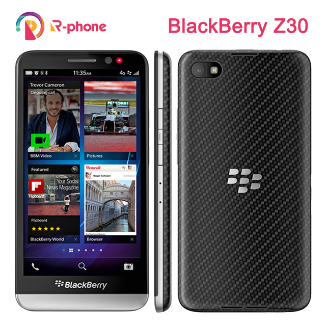 "Original Unlocked BlackBerry Z30 Mobile Phone Dual core 4G WiFi 8MP 5.0"" 16GB ROM Refurbished Cellphone"