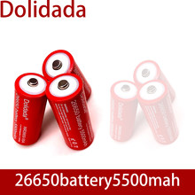 Batterie Rechargeable au Lithium 26650, 3.7 v, 5500 mah, avec pointus (sans PCB), pour batteries de lampe de poche, nouveauté, 26650