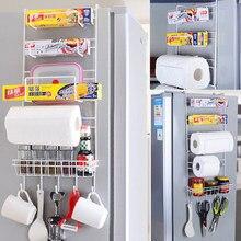 Kühlschrank Rack Kühlschrank Seite Regal Multi-Schicht Seitenwand Halter Küche Organizer Haushalt Hängen Haken Klapp Kühlschrank Lagerung
