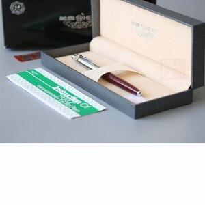 Image 5 - Hero 100 14K altın uçlu klasik dolma kalem otantik kalite Metal tüm çelik/yarı çelik üstün mürekkep kalem yazma hediye seti
