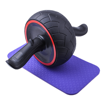 Dual Ab Wheel Exercise And Fitness with Anti Slip Grips and Double Wheels  Core Abdominal Trainers Gym Equipment