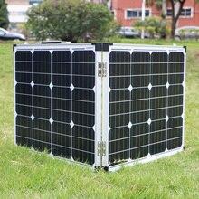 Dokio 100 واط (2 قطعة x 50 واط) لوحة شمسية قابلة للطي الصين مونو بانيلو solare وحدة تحكم usb بطارية شحن الشمسية/وحدة/نظام شاحن