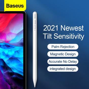 Baseus pojemnościowy rysik do Apple iPad ołówek telefon komórkowy rysik dotykowy magnetyczny długopis do ipada Pro 2021 Air 4 Pen Tip tanie i dobre opinie CN (pochodzenie) Ekran pojemnościowy Dla apple TABLETY Urządzenia PDA inne 16 5cm Baseus Stylus Pen Z tworzywa sztucznego