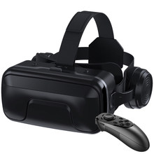 With Gamepad VR Glasses Ergonomic Detachable 3D Movies Giant Screen Headset Type PU Leather Optical Lens Adjustable For Android(China)