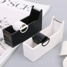 Creative Plastic Desktop Adhesive Tape Dispenser Cutter Stand Holder Office School Supplies Stationery